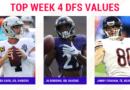 Selecciones de la semana 4 de la NFL DFS: mejores jugadores, durmientes para DraftKings, alineaciones diarias de fútbol de fantasía de FanDuel
