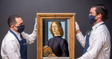 El retrato de Botticelli 'Joven' se subastará en Sotheby's